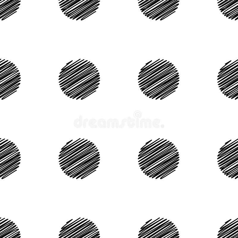 Modelo inconsútil del punto grande Textura blanco y negro de la moda abstracta ilustración del vector