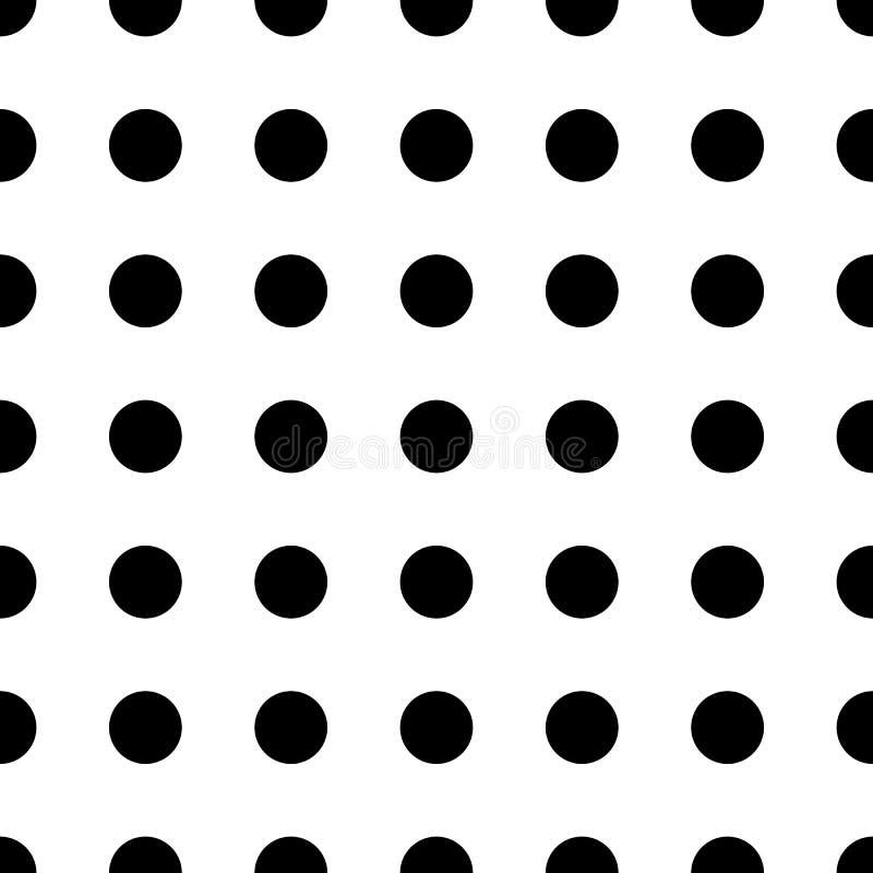 Modelo inconsútil del punto grande Textura blanco y negro de la moda abstracta Estilo gráfico para el papel pintado stock de ilustración