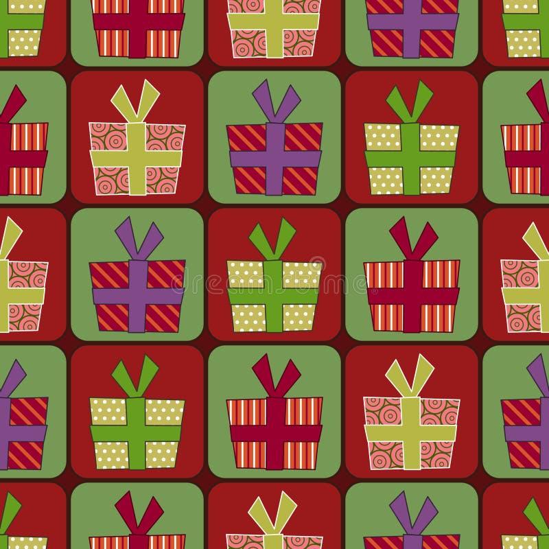 Download Modelo Inconsútil Del Rectángulo De Regalo Ilustración del Vector - Ilustración de navidad, alegría: 7150936