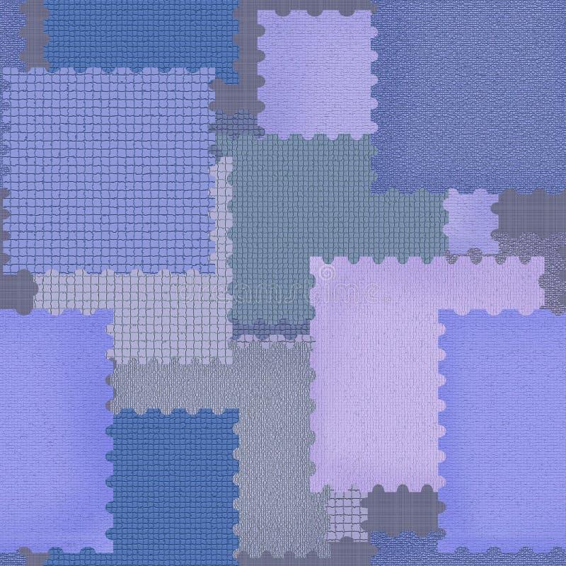 Modelo inconsútil del remiendo con backgro retro de los elementos geométricos stock de ilustración