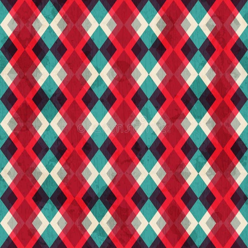 Modelo inconsútil del Rhombus rojo con efecto del grunge libre illustration