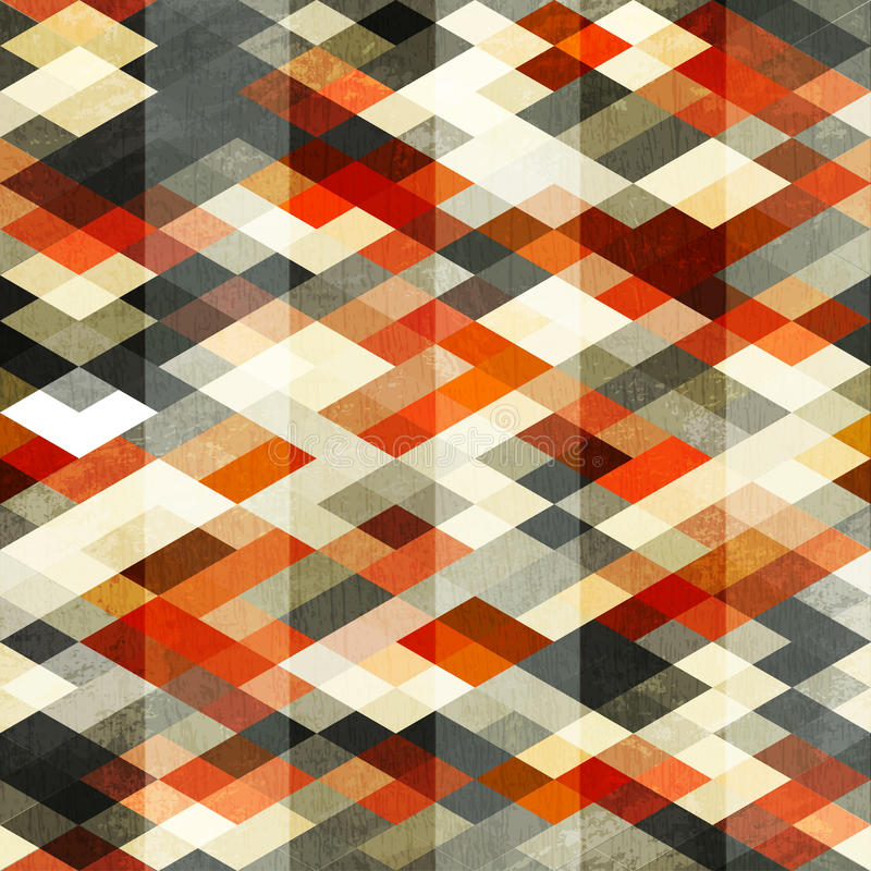Modelo inconsútil del Rhombus rojo del vintage ilustración del vector