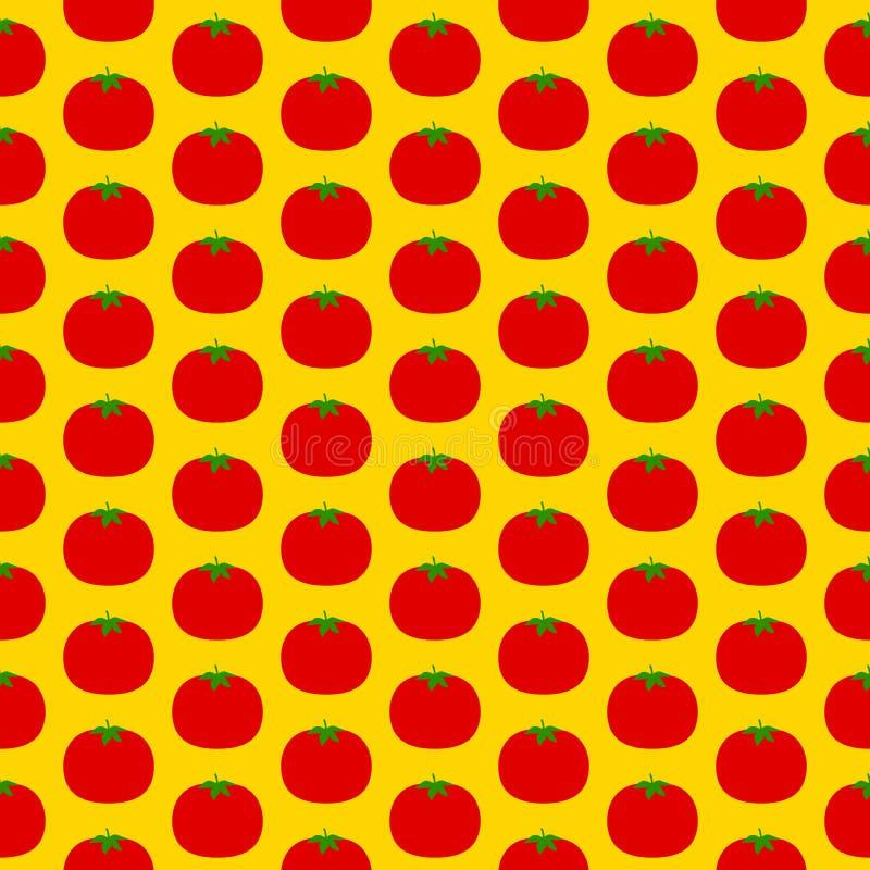 Modelo inconsútil del tomate libre illustration