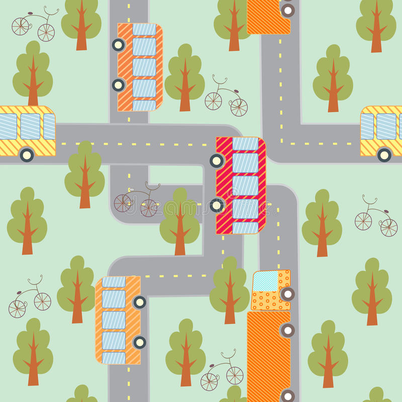Modelo inconsútil del tráfico de ciudad libre illustration