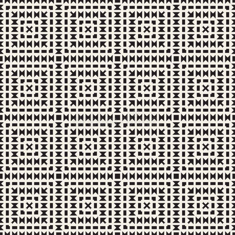 Modelo inconsútil del tracery Enrejado estilizado repetido Papel pintado geométrico simétrico Adorno étnico del enrejado Vector libre illustration