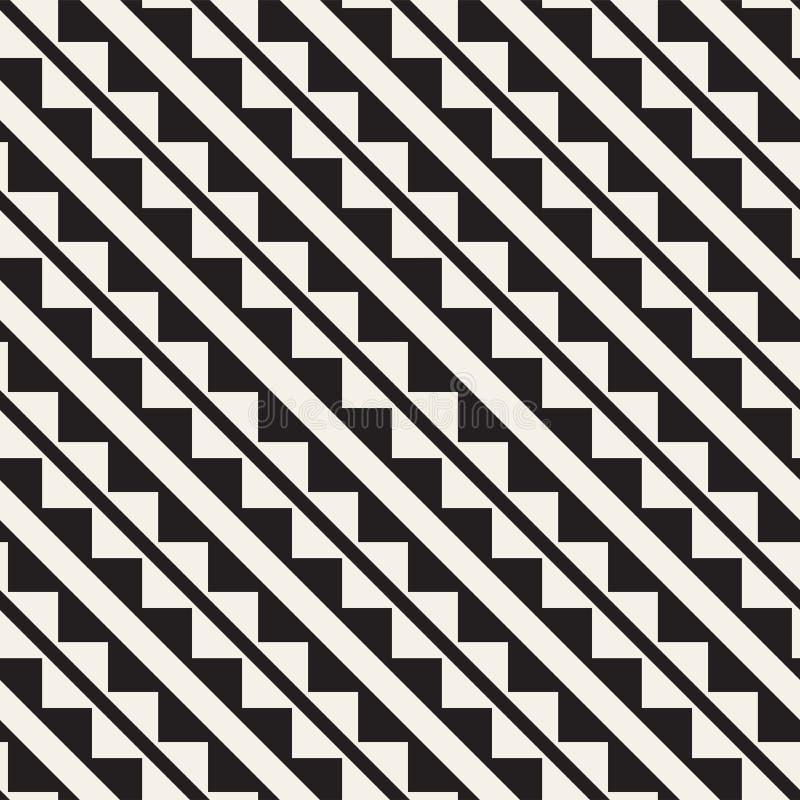 Modelo inconsútil del tracery Enrejado estilizado repetido Papel pintado geométrico simétrico Adorno étnico del enrejado Vector stock de ilustración