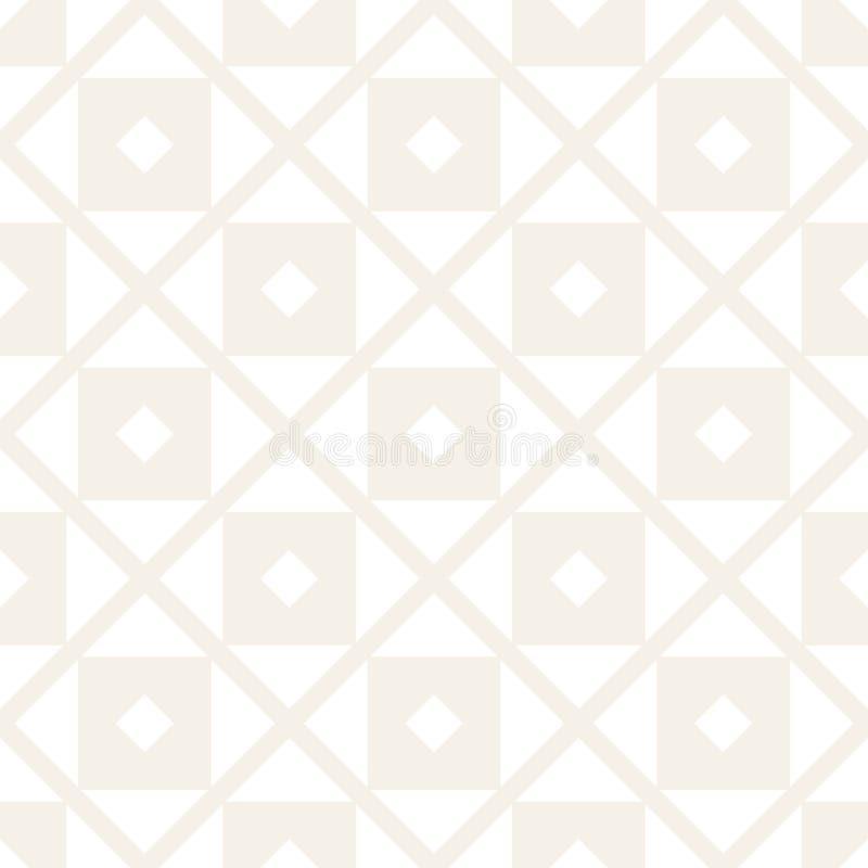 Modelo inconsútil del tracery Enrejado estilizado repetido Papel pintado geométrico simétrico Adorno étnico del enrejado Vector ilustración del vector