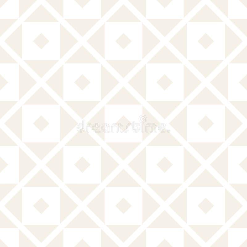 Modelo inconsútil del tracery Enrejado repetido Papel pintado abstracto geométrico simétrico Adorno étnico del enrejado Vector stock de ilustración