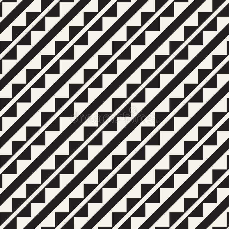 Modelo inconsútil del tracery Enrejado repetido Papel pintado abstracto geométrico simétrico Adorno étnico del enrejado Vector ilustración del vector