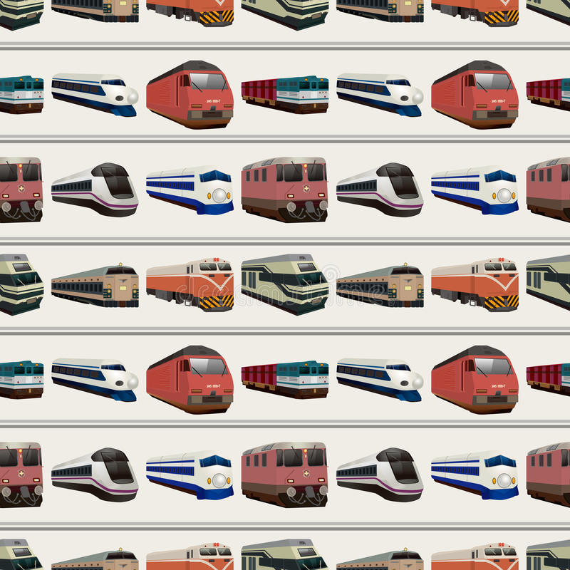 Modelo Inconsútil Del Tren Imagen de archivo