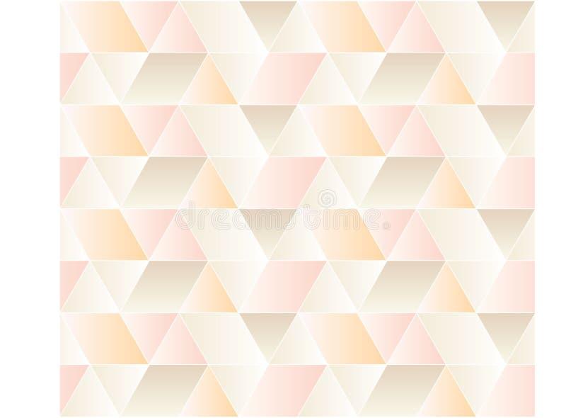 Modelo inconsútil del triángulo stock de ilustración