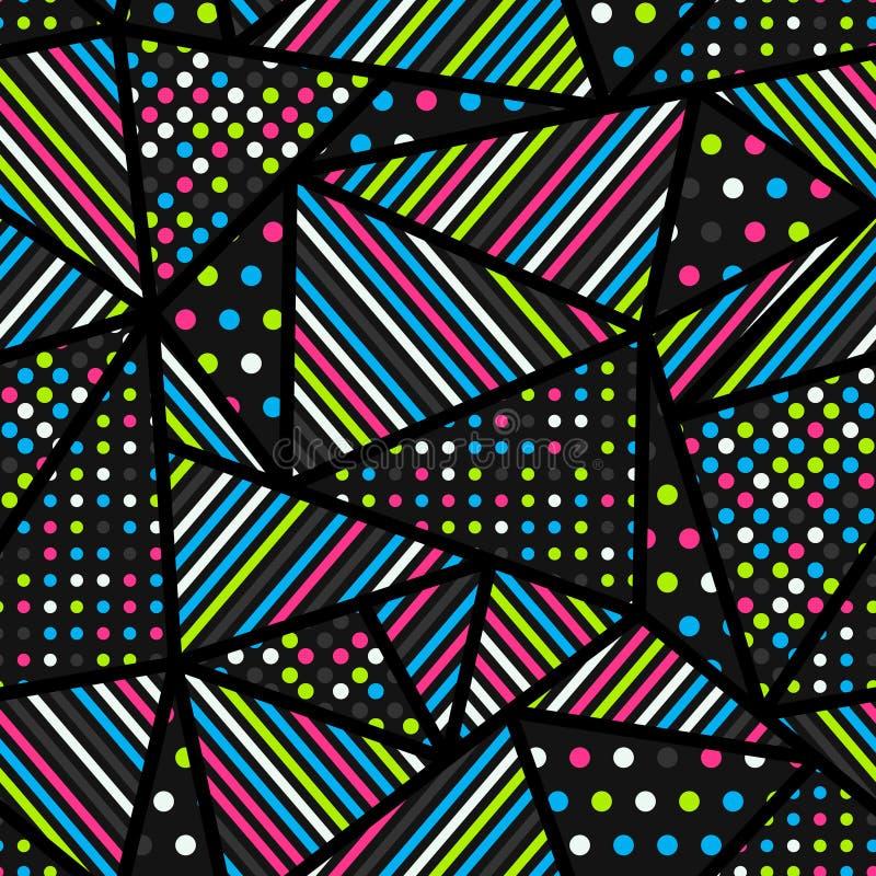 Modelo inconsútil del triángulo abstracto imagenes de archivo