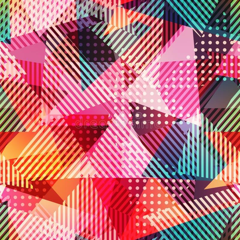 Modelo inconsútil del triángulo abstracto fotografía de archivo libre de regalías