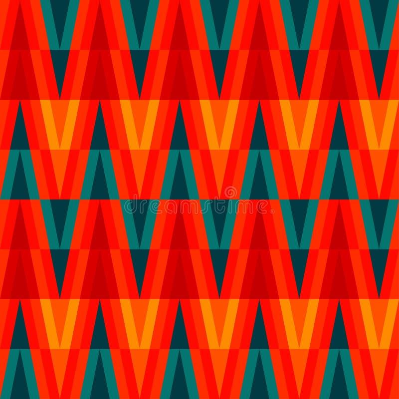 Modelo inconsútil del triángulo brillante azteca ilustración del vector