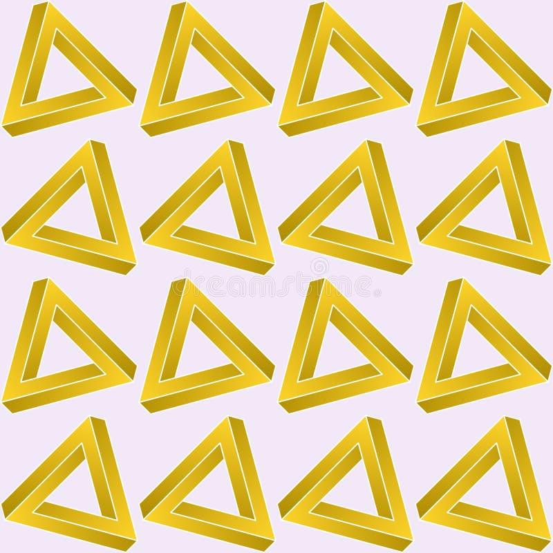 Modelo inconsútil del triángulo del infinito libre illustration
