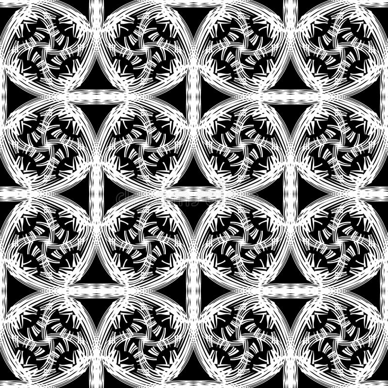 Modelo inconsútil del vector abstracto con las líneas y rejilla que se encrespan Textura sin fin decorativa libre illustration