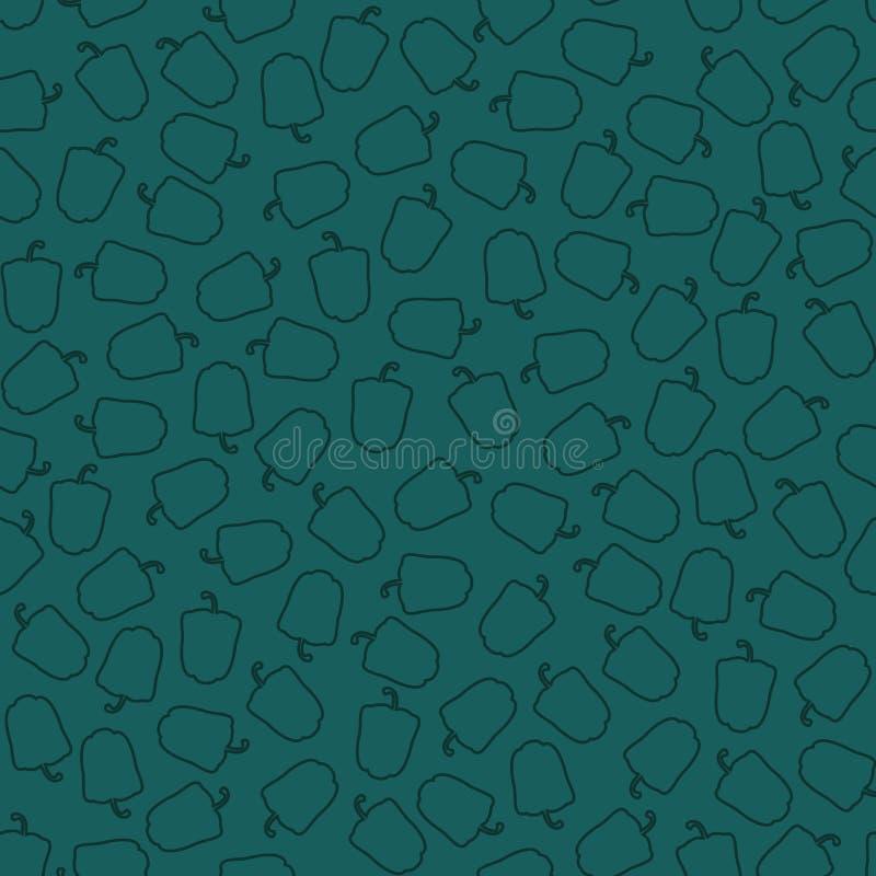 Modelo inconsútil del vector abstracto de pimientas stock de ilustración