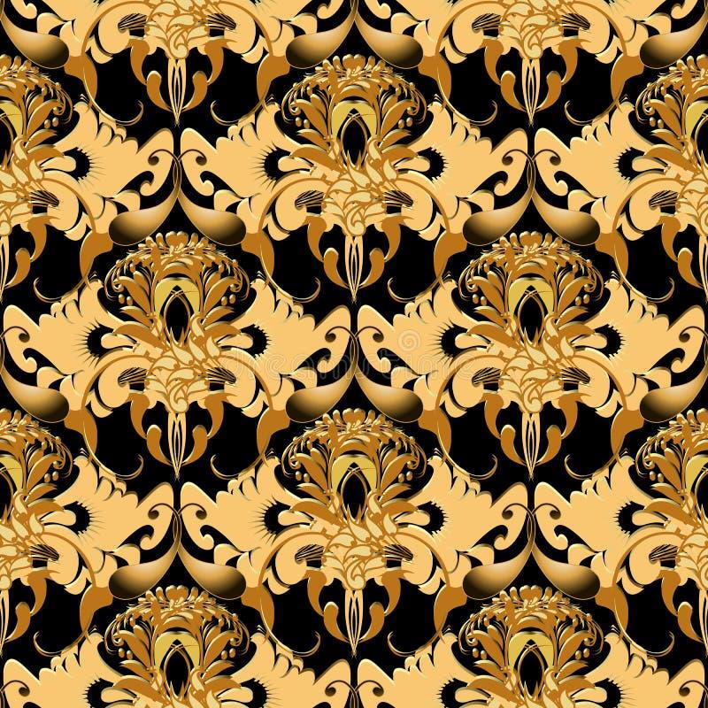 Modelo inconsútil del vector adornado de Paisley El otoño colorea el Orn floral libre illustration