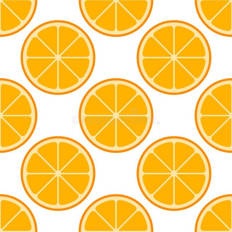 Modelo inconsútil del vector anaranjado de las rebanadas libre illustration