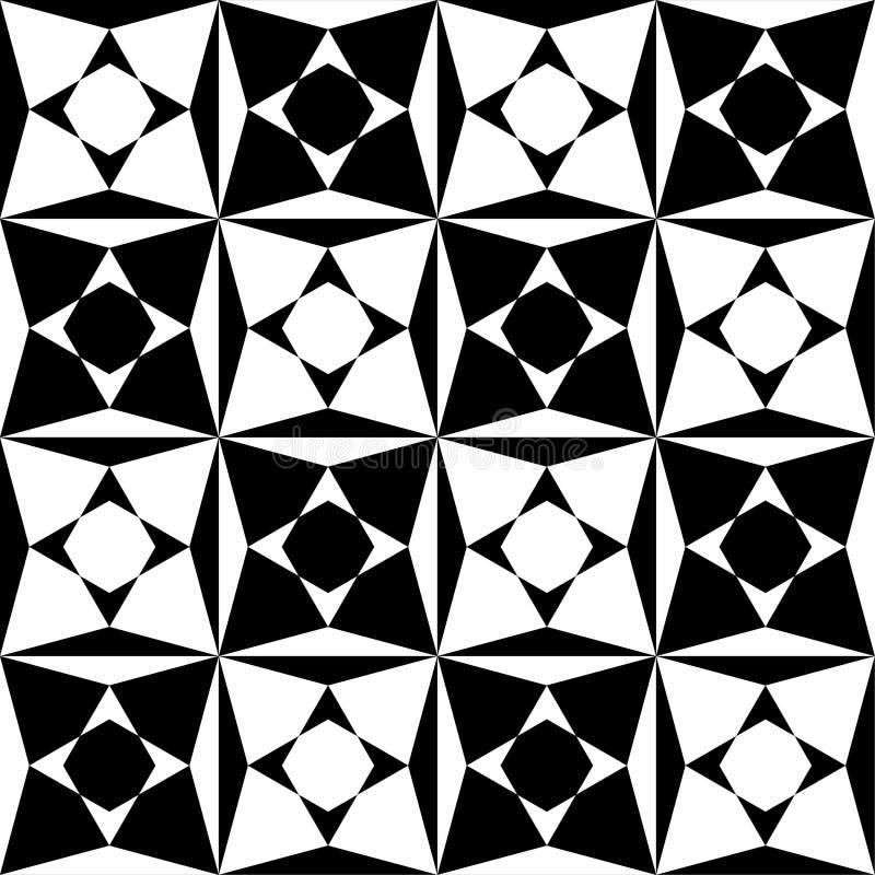 MODELO INCONSÚTIL DEL VECTOR DEL ARTE ÓPTICO TEXTURA MONOCROMÁTICA DE LA ILUSIÓN STIPED ALINEA EL FONDO GEOMÉTRICO stock de ilustración
