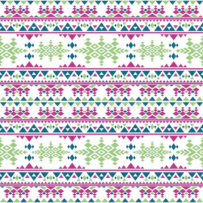 Modelo inconsútil del vector azteca peruano Textura repetidor indígena mexicana del estilo de Boho stock de ilustración