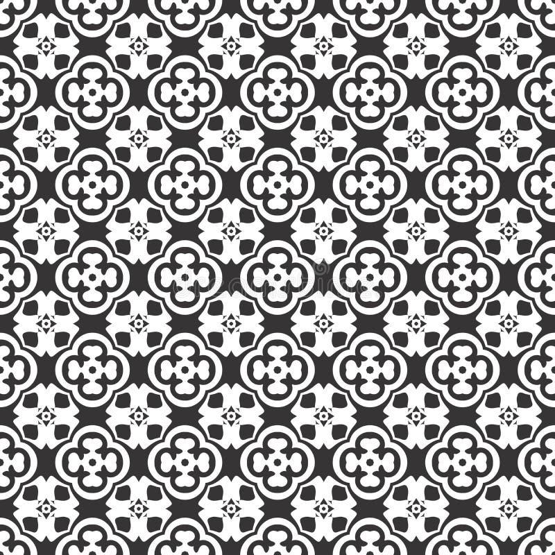 Modelo inconsútil del vector blanco y negro, tacto del abrtract stock de ilustración