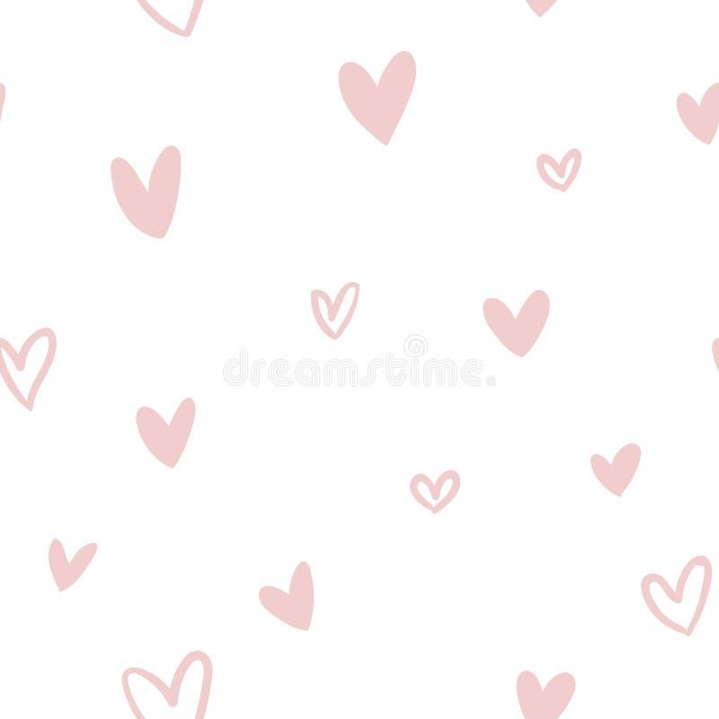 Modelo inconsútil del vector con amor libre illustration