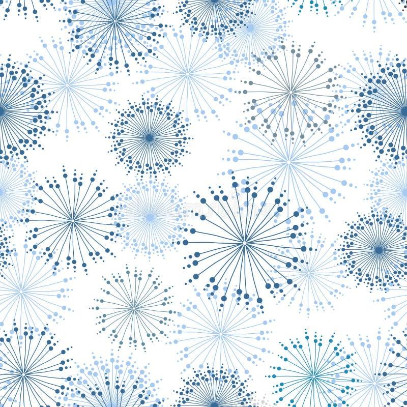 Modelo inconsútil del vector con las flores estilizadas libre illustration