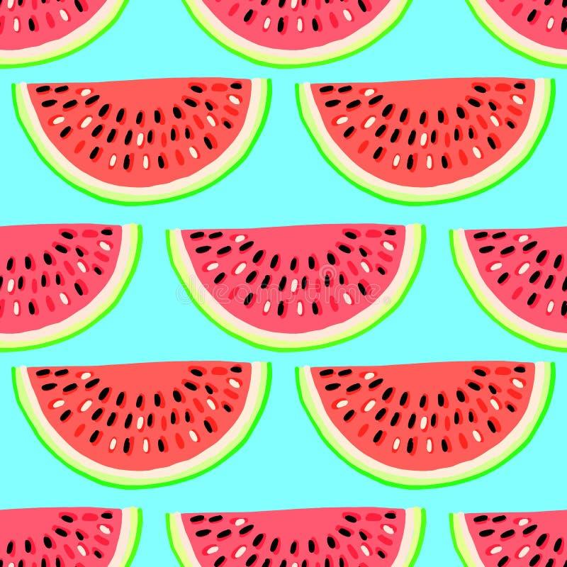 Modelo inconsútil del vector con las frutas Fondo drenado mano colorida ilustración del vector