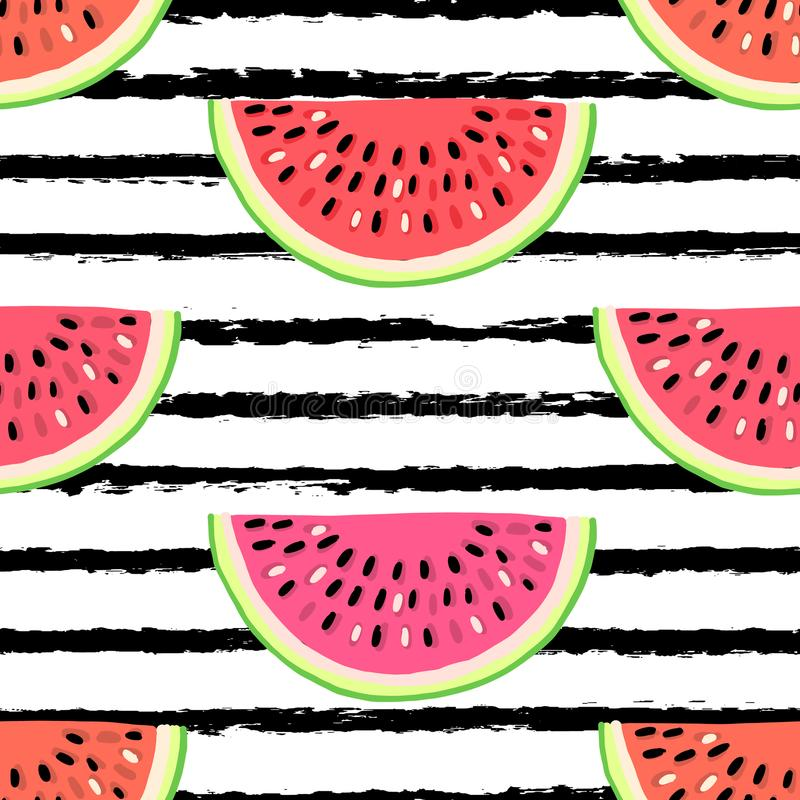 Modelo inconsútil del vector con las frutas Fondo drenado mano colorida libre illustration