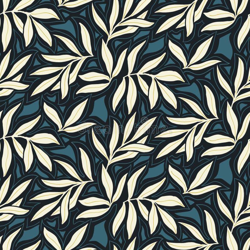 Modelo inconsútil del vector con las hojas de la caída Fondo moderno elegante del otoño stock de ilustración
