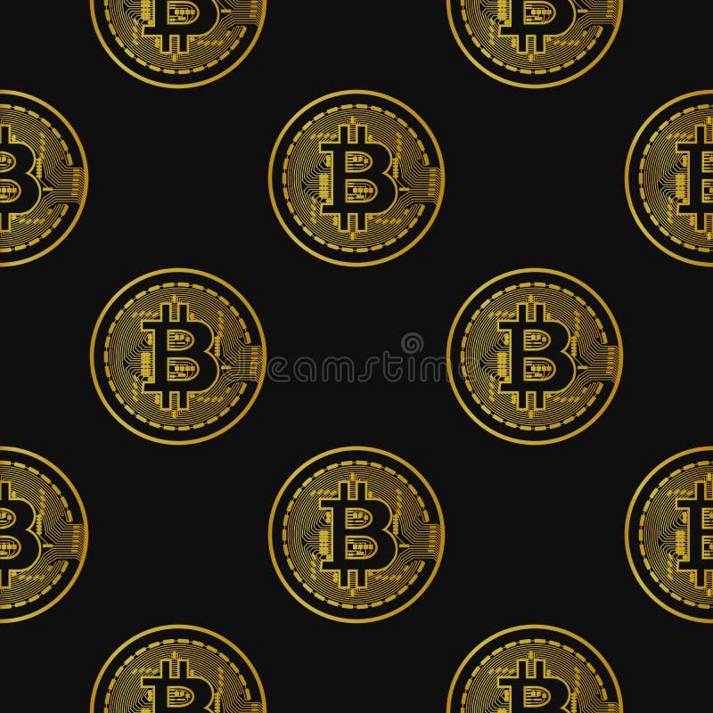Modelo inconsútil del vector con los bitcoins libre illustration