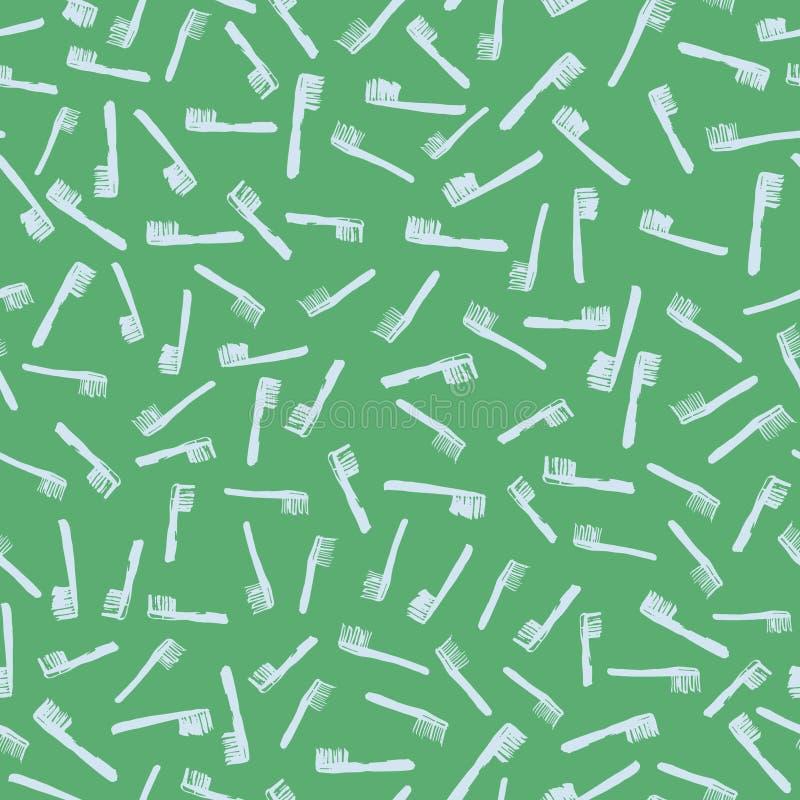 Modelo inconsútil del vector con los cepillos libre illustration