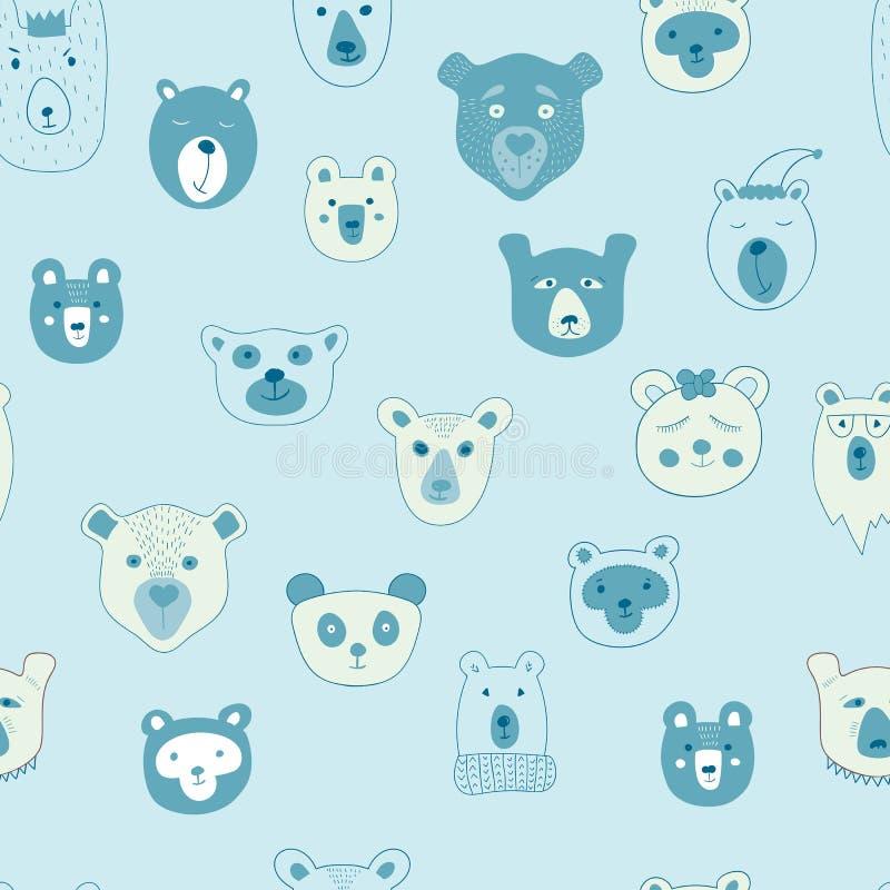 Modelo inconsútil del vector con los osos libre illustration