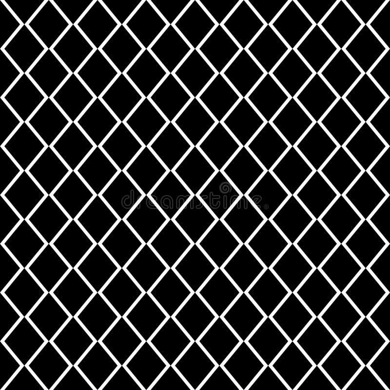 Modelo inconsútil del vector cuadrado de la rejilla Fondo a cuadros oscuro sutil de la repetición, diseño simple libre illustration