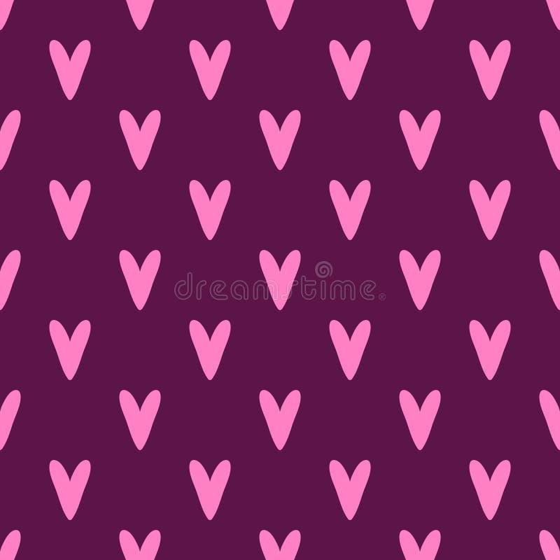 Modelo inconsútil del vector cuadrado para el día de tarjeta del día de San Valentín ilustración del vector