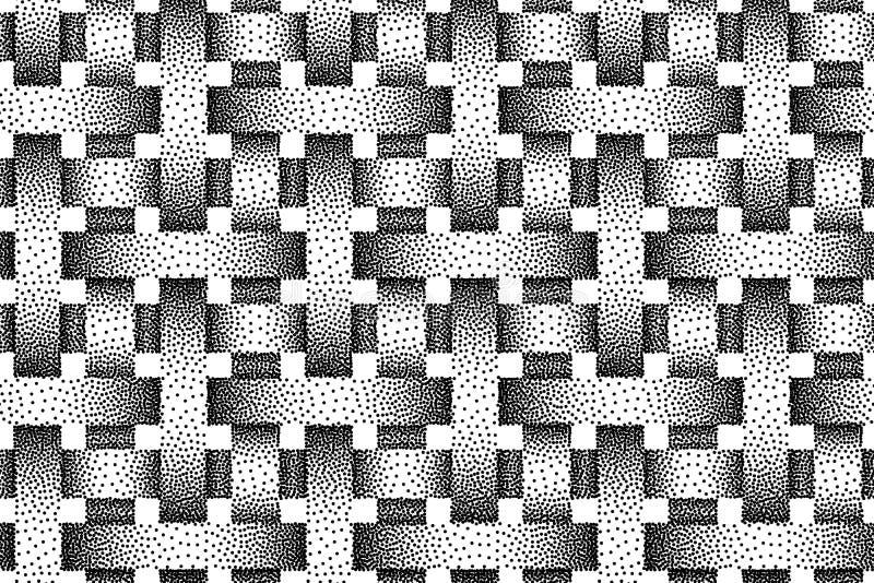 Modelo inconsútil del vector de bandas tejidas Textura del Stipple stock de ilustración