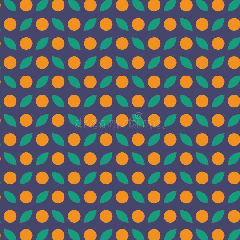 Modelo inconsútil del vector de la fruta anaranjada libre illustration