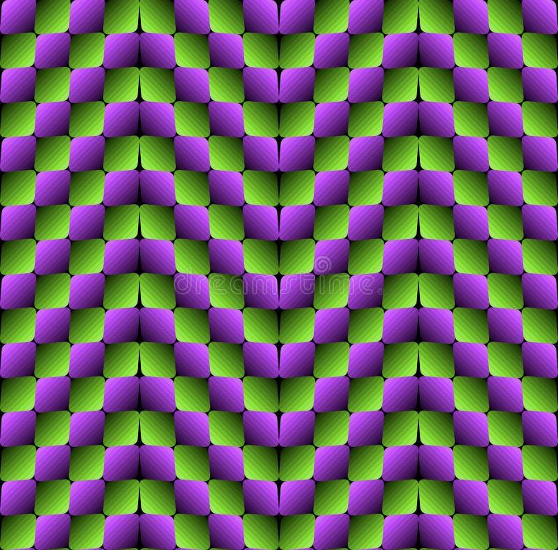 Modelo inconsútil del vector de la ilusión óptica de los Rhombus del bombeo ilustración del vector