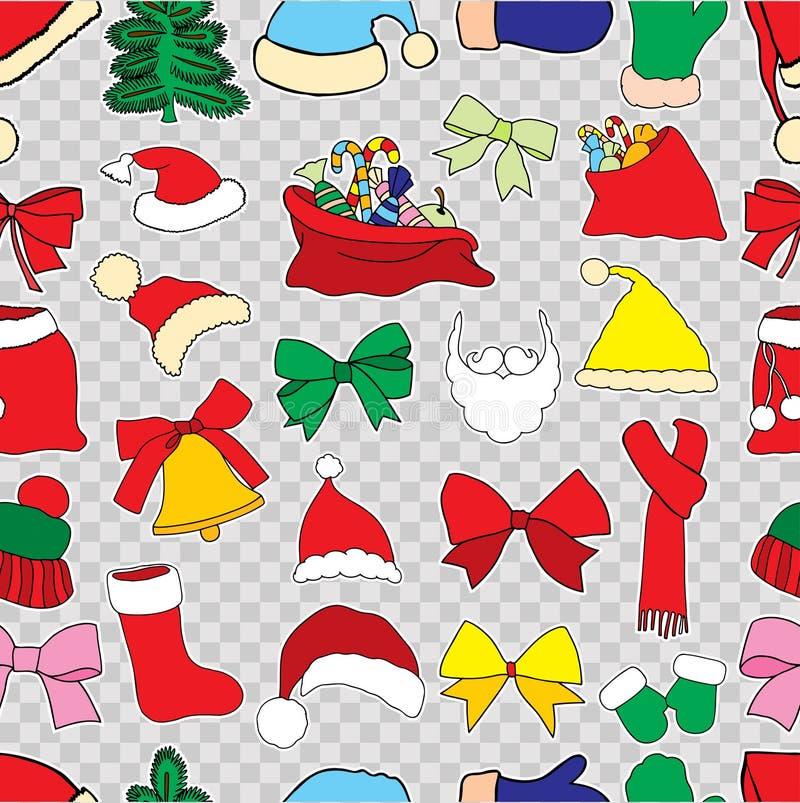 Modelo inconsútil del vector de la Navidad stock de ilustración