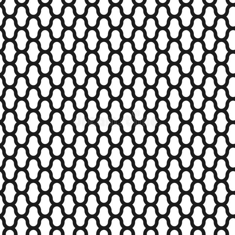 Modelo inconsútil del vector de la rejilla, fondo abstracto geométrico del color blanco y negro Línea simple moderna del enrejado ilustración del vector