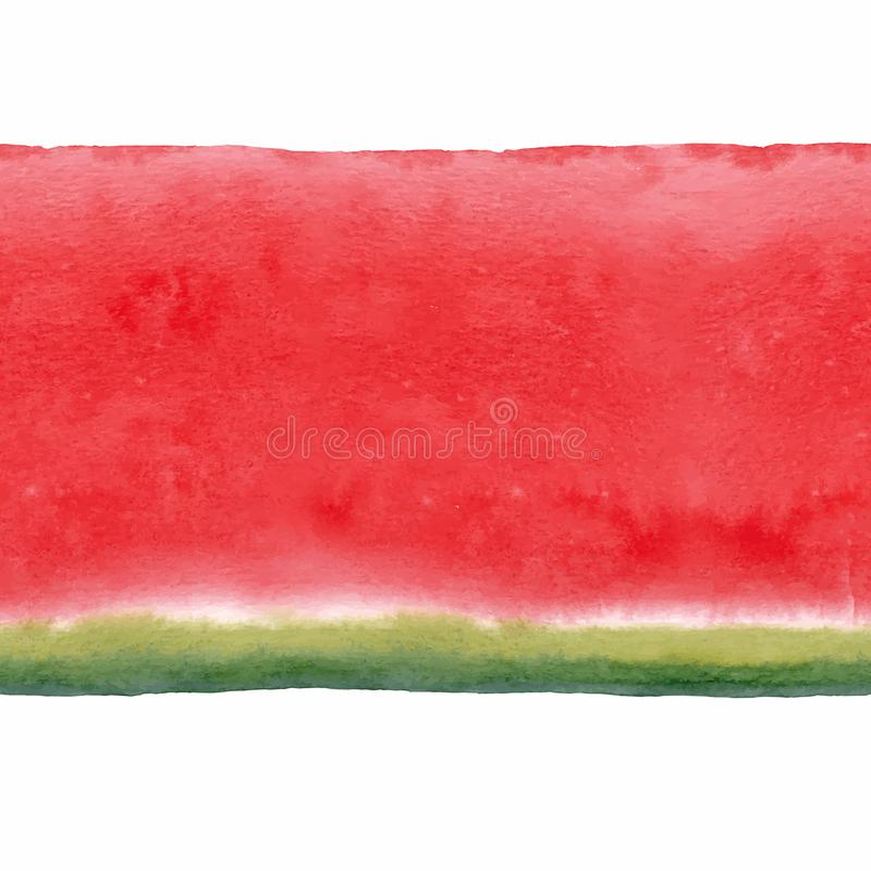Modelo inconsútil del vector de la sandía de la acuarela libre illustration