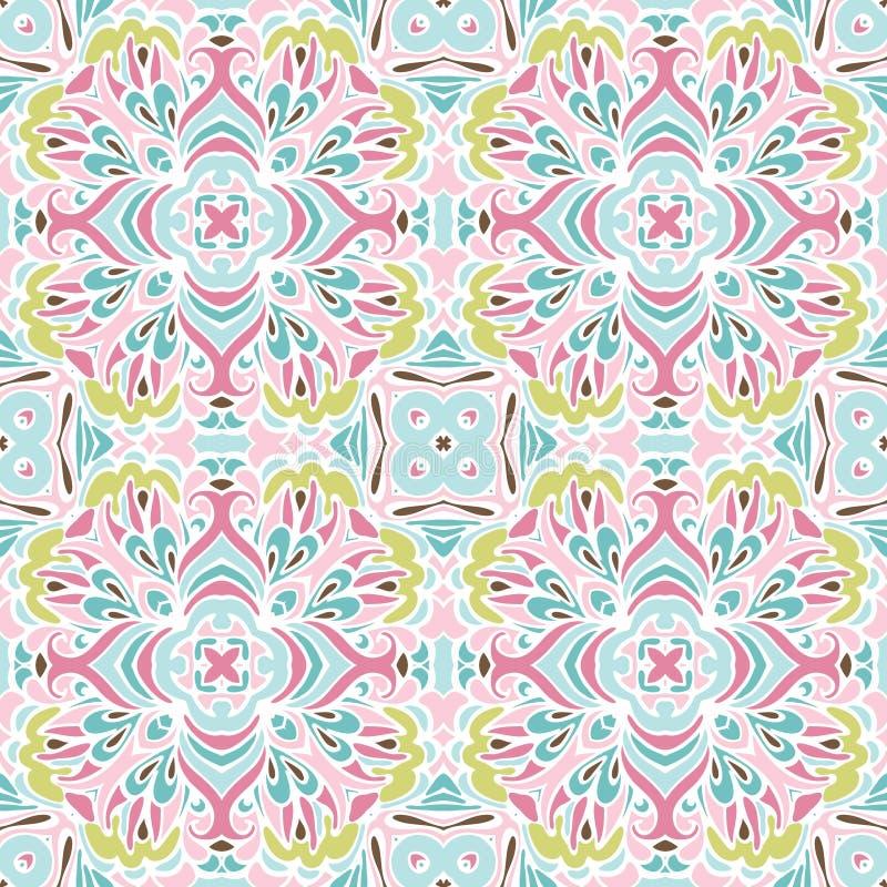 Modelo inconsútil del vector de la textura floral linda libre illustration