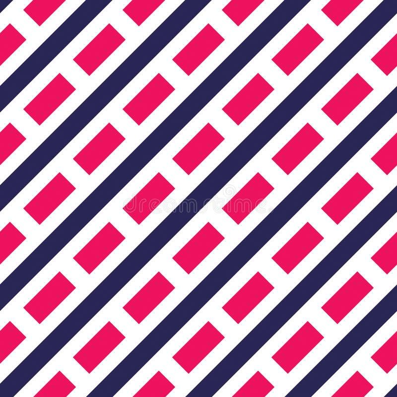 Modelo inconsútil del vector de las líneas discontinuas, fondo abstracto Dise?o geom?trico simple Rayas paralelas de la diagonal stock de ilustración