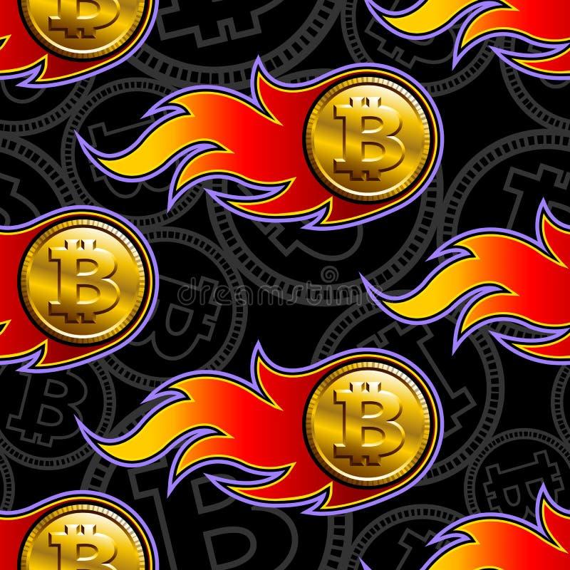 Modelo inconsútil del vector de los iconos crypto de la moneda del bitcoin digital libre illustration