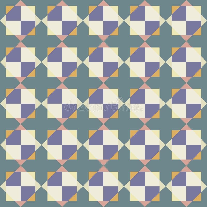 Modelo inconsútil del vector de tejas abstractas stock de ilustración