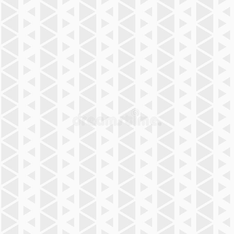 Modelo inconsútil del vector de triángulos Repetición de las tejas geométricas del triángulo ilustración del vector