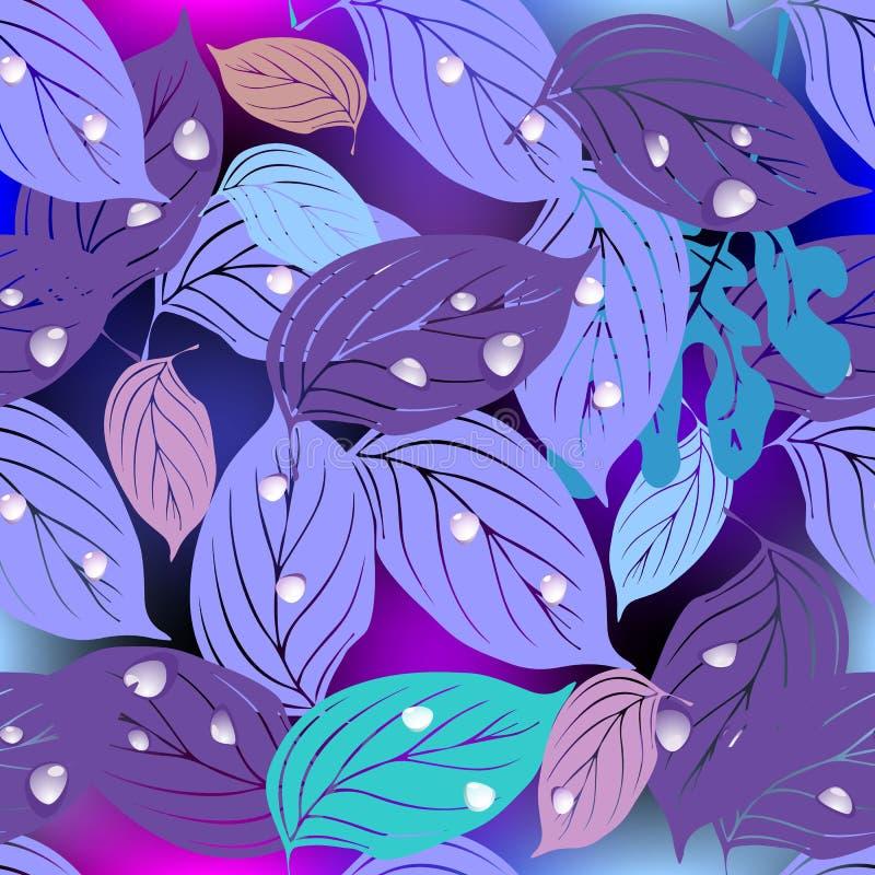 Modelo inconsútil del vector decorativo frondoso Extracto ornamental la Florida stock de ilustración