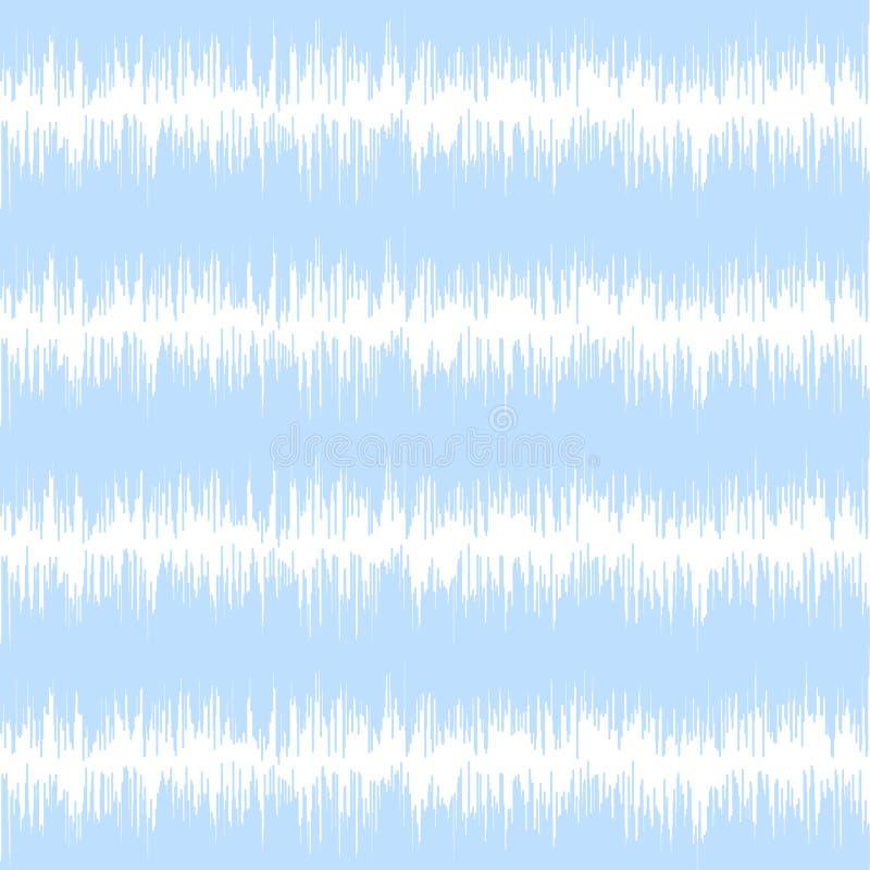 Modelo inconsútil del vector del ikat azul Tela de materia textil ilustración del vector