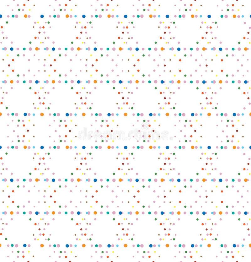 Modelo inconsútil del vector del lunar geométrico abstracto La ilusión óptica colorida hace libre illustration
